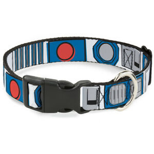 Plastic Clip Collar - Star Wars R2-D2 Bounding Parts White/Black/Blue/Gray/Red