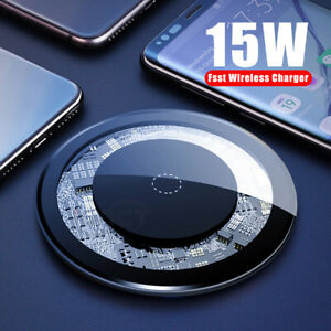 15W Qi Fast Wireless Charger Charging Pad Dock for iPhone11 Pro Max Samsung S20