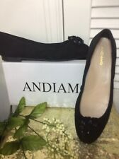 Andiamo Ballet Flat Black Size 9.5 W Beaded toe