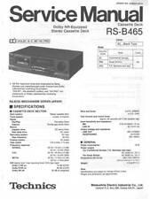 TECHNICS RS-B465 RS B465 - CASSETTE DECK - SERVICE MANUAL COLOR VERSION - REPAIR