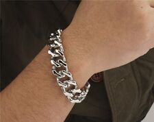 【from USA】Rocker Biker Gothic Cuban Curb Casting 19mm Stainless Steel Bracelet