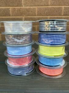 Ribbon - Gingham Traditional Small Check - Berisfords - 5mm-40mm
