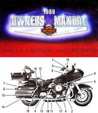 1989 HARLEY-DAVIDSON ALL MODELS OWNERS MANUAL -XLH-FXR-FXRT-FLSTC-FLHS-FLHTC