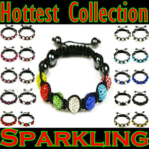Special  Shamballa Bracelet Czech Crystal Disco Clay Ball  and Gift Pouch