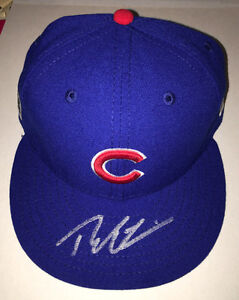 CHICAGO CUBS THEO EPSTEIN SIGNED OFFICIAL 2016 WORLD SERIES HAT w/COA PROOF MLB