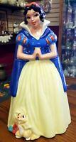 Vintage Disney Snow White Cookie Jar Canister Treasure Craft with Original Box