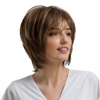 Parrucca sintetica da donna con parrucca sintetica corta, bionda