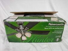 "Hunter Newcastle 52"" Brushed Nickel Ceiling Fan w/ Light Kit & Remote Control"