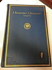 "Vintage ""I Remember I Remember"" Iowa History Book by Cyrenus Cole"