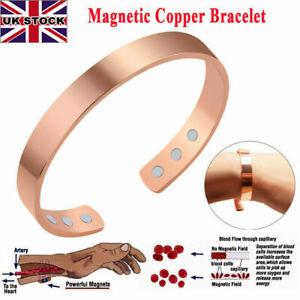 Copper Magnetic Bracelet Mens Ladies Bio Pain Relief Arthritis Healing Bangle UK