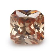 Champagne Sapphire 6.16ct 10x10mm Cushion Cut Shape AAAAA VVS Loose Gemstone