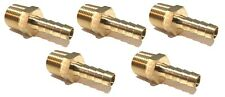 (5 Pack) 5/16 HOSE BARB X 3/8 MALE NPT Brass Pipe Fitting NPT Gas Fuel Air