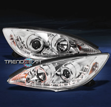 2002 2003 2004 TOYOTA CAMRY DRL LED PROJECTOR HEADLIGHTS CHROME DAYTIME RUNNING