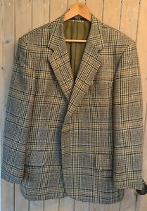 Vintage DAKS LONDON Single Breasted Pure New Wool Check Jacket 44R, Peebles