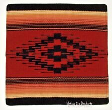 """Colorful Pillow Cover Southwestern Lodge or Home Decor 18x18"""" Old Saltillo #03"""