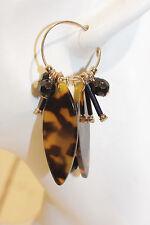 Creolen NEU Ohrringe Ethno gold braun schwarz Tiermuster Afrika Kunststoff style