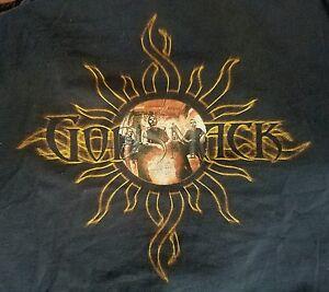 GODSMACK 2001 SUMMER TOUR T-SHIRT SUN XLARGE PRE-OWNED CONDITION METAL ROCK