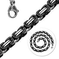 12mm Herren Königskette Halskette Panzerkette Mächtig Edelstahl Armband 22-120cm