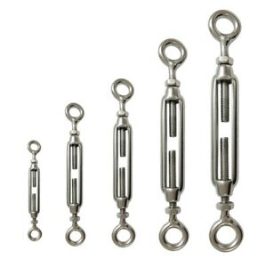Turnbuckles Stainless Steel Eye/Eye 4,5,6,8,and 10mm - choose size & quantity