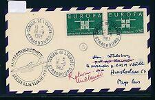 06617) KLM FF Amsterdam - Kuwait 25.9.63, Karte ab Frankreich CEPT Strasbourg
