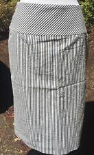 JCREW PENCIL SKIRT  Indigo - Stripe White Seersucker Navy - 00