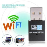 Mini 300Mbps USB2.0 WiFi Dongle Wireless Network Card 802.11 n/g/b LAN Adapter