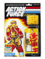 Action Force / GI Joe Flamethrower Torch MOC Carded Custom Sticker Offer