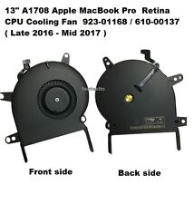 "13"" Apple MacBook Pro A1708 Retina CPU Cooling Fan Late 2016 923-01168 610-00137"