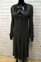 Vestito Abito Donna MARLBOLO CLASSIC Taglia L Woman Dress Casacca Vintage Nero