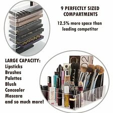 Beauty Case Palette Makeup Organizer Acrylic Storage Cosmetic Containes 8 Shelfs