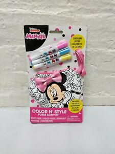 Disney Minnie Mouse Color 'N Style Purse Activity w/ Markers & Gems Toy