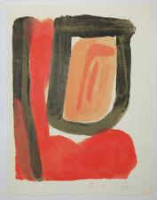 Bram VAN VELDE [Composition 3]. 1980. Lithographie originale SIGNEE