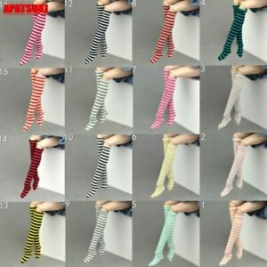 """1Pair Stripe Doll Stocking Suitable for 11.5"""" Doll Long Socks for Blythe 1/6 Toy"""