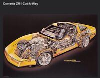 Corvette ZR1 Cutaway - Artist David Kimble Rare Car Poster WOW!!!