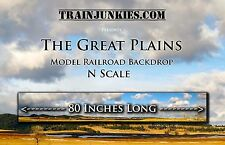 "TrainJunkies N Scale  ""The Great Plains"" Backdrop  12x80""  C-10 Brand New"