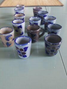 Westerwälder Keramik Schnaps Gläser
