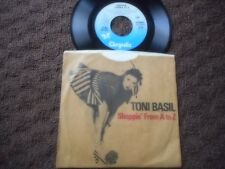 "TONI BAZIL ""SHOPPING FROM A TO Z"" / ""TIME AFTER TIME"" PICTURE SLEEVE 45 1983"