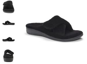 Vionic Relax Black Terry Slide Slipper Sandal Women's sizes 5-12 NEW!!!