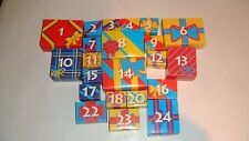 LOT OF (22) PLAYMOBIL #3850 ADVENT CALENDAR BOXES