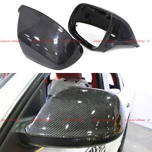 Carbon Fiber Mirror Cover for 2010-17 Audi Q5 Q7 SQ5 W/h Side Assist Blind Spot
