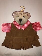 Cuddly Cousins Country Western Fringe Bear Outfit 11 Inches NWT Bear Clothes