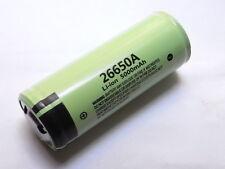 1 batteria panasonic 26650A 5000 mAh Li-ion 3,7 volt pcb protection + pin
