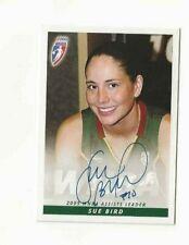 Sue Bird WNBA autograph card 2006 Seattle Storm