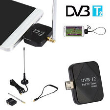 DVB-T2 Mini Micro USB Tuner TV Receiver +Antenna For Android Smartphone Tablet