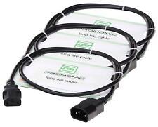 3x SET DE CABLE ELECTRIQUE CORDON ALIMENTATION ADAPTEUR IEC DJ PA STUDIO PC 2.5M