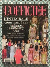 L'OFFICIEL PARIS HS 5000 Modèles Printemps Été 2013 - Femme Homme Accessoires