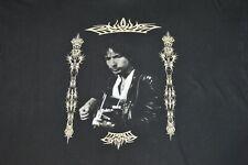 Vintage BOB DYLAN 2000 T-shirt Men Size XL 90s Rock Band Tour Made USA Black