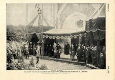 Königsberg Feierliche Einweihung der Königin-Luise Gedächtniskirche Kaiser..1901