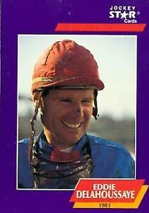 Eddie Delahoussaye trading card Horse Racing 1981 Jockey of Year 1992 Star #33