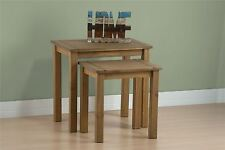 Birlea Santiago Nest of Tables Corona Mexican Pine Solid Wood Furniture Waxed